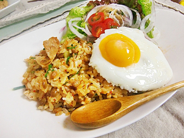 チャーハン キムチ 納豆
